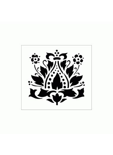 Artikel Art Nouveau 5 Stencil Tasarımı 30 x 30 cm Renkli